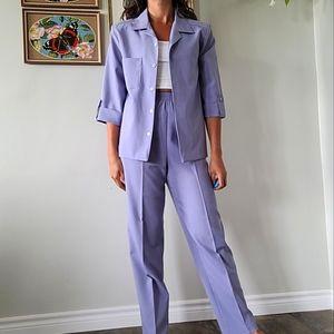 Vintage purple pant suit